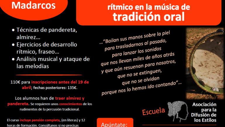 Melodía y acompañamiento rítmico en la Música de Tradición Oral